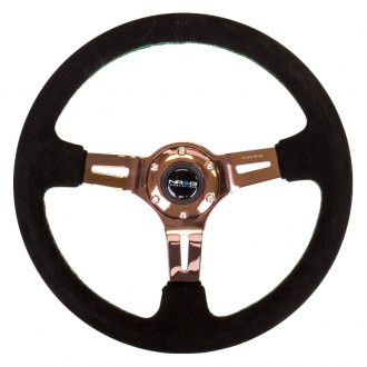 NRG Innovations® -  Black Suede Steering Wheel