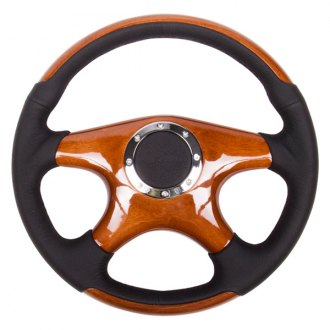 NRG® - 4-Spoke Classic Wood Grain Steering Wheel