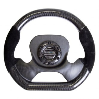 NRG Innovations® - 320mm Carbon Fiber Steering Wheel With Suede Accent