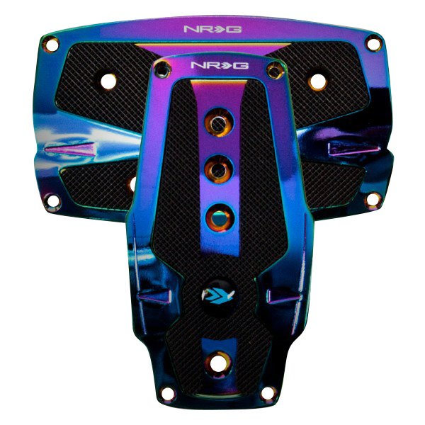 NRG Innovations PDL-250MC Neochrome Aluminum Sport Pedal with Black Rubber Inserts AT
