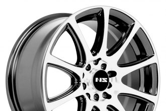 "NS SERIES® - NS1405 Black with Machined Face (16"" x 7"", +38 Offset, 5x114.3 Bolt Pattern, 73.1mm Hub)"
