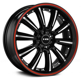 NS SERIES® - NS9017 Black with Machined Face and Red Stripe