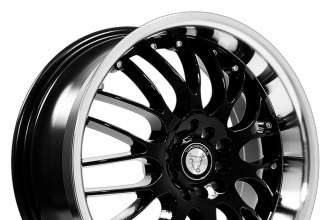 "NS SERIES® - TR9003 Black with Machined Lip (15"" x 7"", +38 Offset, 4x100 Bolt Pattern, 73.1mm Hub)"