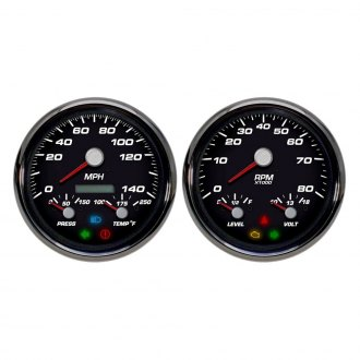 NVU® - Performance Series GM In-Dash Black Analog 3-1 Gauge Kit (2 Gauges)