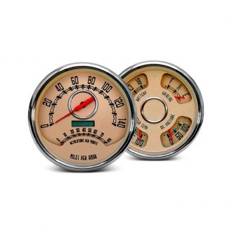 NVU® - Woodward Series™ In-Dash Beige Analog Gauges