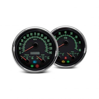 "NVU® - 1969 Series 4-3/8"" In-Dash Black 3-1 Gauge Kit"