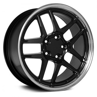 "OE Wheels® - 17"" Replica 5 V Spokes Black with Machined Lip Factory Alloy Wheel"