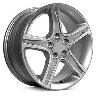"OE Wheels® - 17"" Replica 5 Spokes Silver with Machined Face Factory Alloy Wheel"