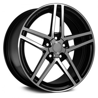 "OE Wheels® - 17"" Replica 5 Double Spokes Black with Machined Face Factory Alloy Wheel"