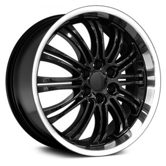 "OE Wheels® - 22"" Replica 12 Double Spokes Black with Machined Lip Factory Alloy Wheel"