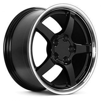 "OE Wheels® - 18"" Replica 5 Spokes Black with Machined Lip Factory Alloy Wheel"