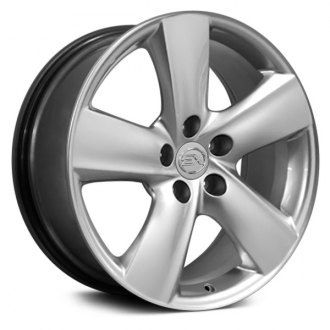 "OE Wheels® - 18"" Replica 5 Spokes Hyper Silver Factory Alloy Wheel"