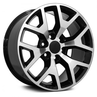 "OE Wheels® - 20"" Replica 6 Y Spokes Black with Machined Face Factory Alloy Wheel"