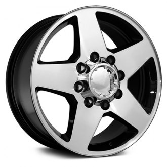 "OE Wheels® - 20"" Replica 5 Spokes Black with Machined Face Factory Alloy Wheel"