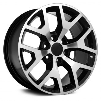 "OE Wheels® - 22"" Replica 6 Y Spokes Black with Machined Face Factory Alloy Wheel"