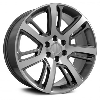 "OE Wheels® - 24"" Replica 7 Double Spokes Gunmetal with Machined Face Factory Alloy Wheel"