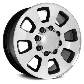 "OE Wheels® - 18"" Replica 8 Spokes Black with Machined Face Factory Alloy Wheel"