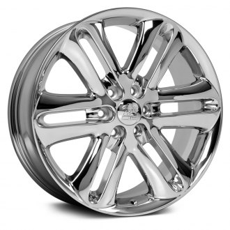 OE Wheels® - 22x9 5 Double-Spoke Chrome Alloy Factory Wheel (Replica)