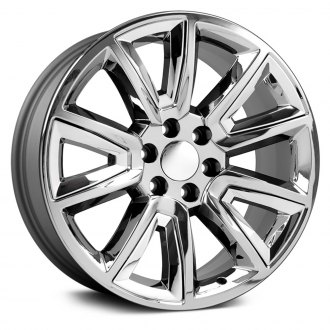 "OE Wheels® - 20"" Replica 5 V Spokes Chrome with Chrome Inserts Factory Alloy Wheel"