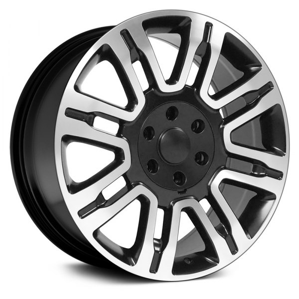 "OE Wheels® - 20"" Replica 8 Spokes Matte Black with Machined Face Factory Alloy Wheel"