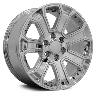 "OE Wheels® - 20"" Replica 7 Spokes Chrome with Chrome Inserts Factory Alloy Wheel"