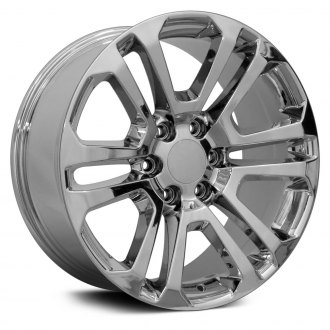 "OE Wheels® - 22"" Replica 6 V Spokes Chrome Factory Alloy Wheel"