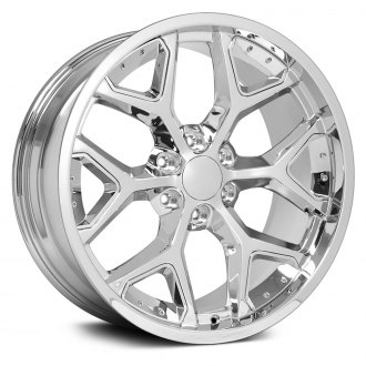 "OE Wheels® - 22"" Replica 6 Y Spokes Chrome with Chrome Inserts Factory Alloy Wheel"
