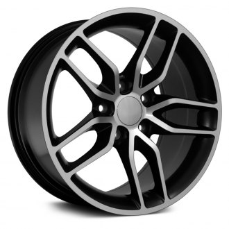 "OE Wheels® - 17"" Replica 5 Double Spokes Satin Black with Machined Face Factory Alloy Wheel"