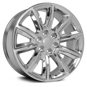 "OE Wheels® - 22"" Replica 5 V Spokes Chrome with Chrome Inserts Factory Alloy Wheel"