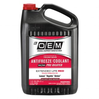 OEM Antifreeze/Coolant® - OEM Premium Extended Life Red Antifreeze/Coolant