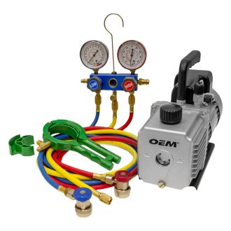 OEM Tools® - Vacuum Pump with Manifold and Can Tap Kit
