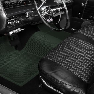 OER® - 1st & 2nd Row Rubber Dark Green Floor Mat Set