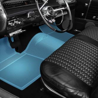 OER® - 1st & 2nd Row Rubber Light Blue Floor Mat Set