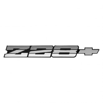 OER® - Camaro Z28 Gray Rear Panel Emblem with Gray Bow Tie