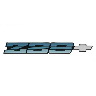 OER® - Camaro Z28 Blue Rear Panel Emblem with Silver Bow Tie
