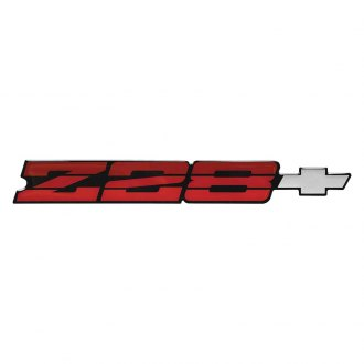 OER® - Camaro Z28 Dark Red Rear Panel Emblem with Silver Bow Tie