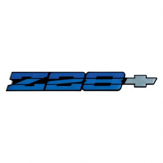 OER® - Blue Metallic Rear Panel Emblem with Silver Bow Tie