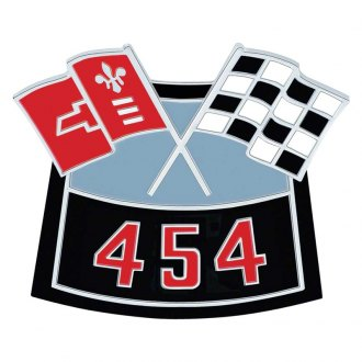"OER® - ""454"" Die-Cast Crossed Flags Air Cleaner Emblem"