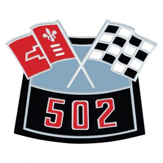 "OER® - ""502"" Die-Cast Crossed Flags Air Cleaner Emblem"