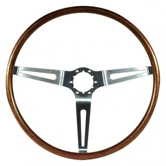 OER® - 3 Spokes Steering Wheel with Walnut Grip