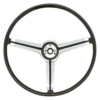 OER® - 3 Spokes Steering Wheel with Black Grip