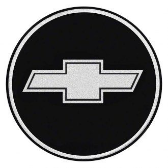 OER® - Wheel Center Cap Emblem With Chrome Bow Tie Logo on a Black Background