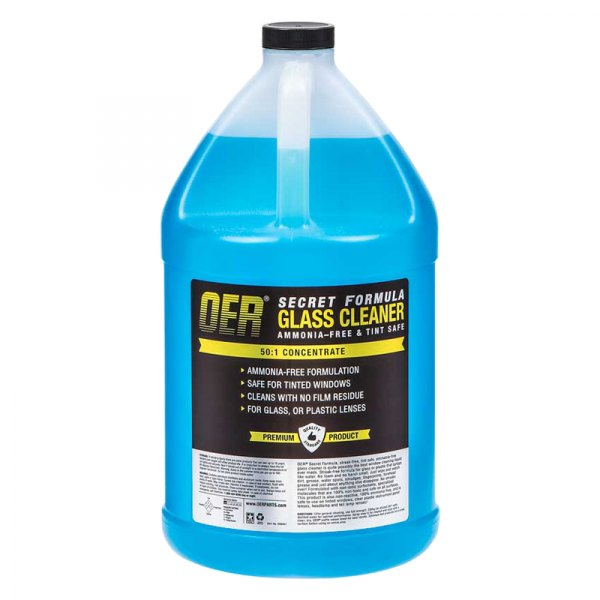oer k89467 1 gallon secret formula tint safe ammonia free glass cleaner 50 1 concentrate. Black Bedroom Furniture Sets. Home Design Ideas