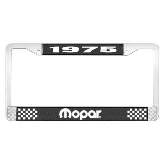 OER® - License Plate Frame with White 1975 Mopar Logo
