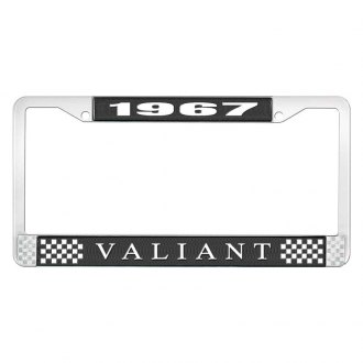 OER® - License Plate Frame with White 1967 Valiant Logo