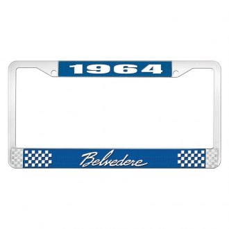 OER® - License Plate Frame with White 1964 Belvedere Logo