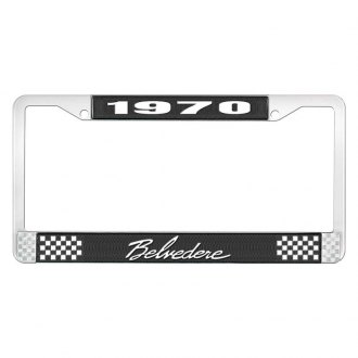 OER® - License Plate Frame with White 1970 Belvedere Logo