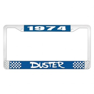 OER® - License Plate Frame with White 1974 Duster Logo
