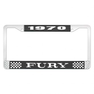 OER® - 1970 Fury Logo on Black License Frame