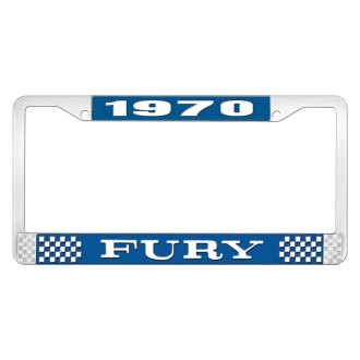 OER® - 1970 Fury Logo on Blue License Frame
